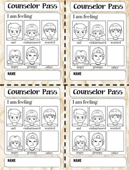 Middle School Counselor Passes: Crumpled Paper Passes
