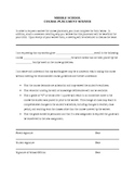 Middle School Course Waiver Document