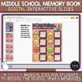 Middle School DIGITAL Memory Book: End of School Year Activity