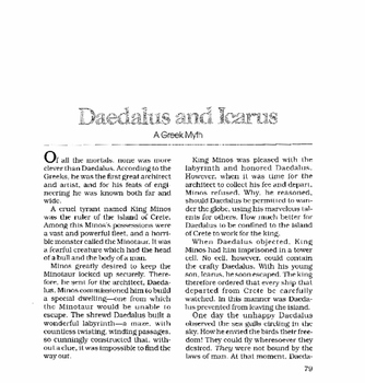Middle School Daedalus and Icarus A Greek Myth Guided Reading Worksheet
