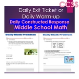 Middle School Daily Math Exit Slip/Warm-Up:Scientific Notation & Write Fractions