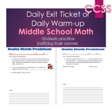 Middle School Daily Math Exit Slip/Warm-Up: Solving Two-Step Equations