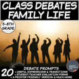 Middle School Debates Package: Family Life
