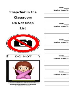 Middle School ELA Do Not Snap List