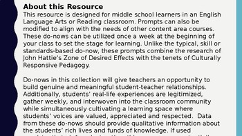 Middle School Do Nows: Enhancing Student Engagement