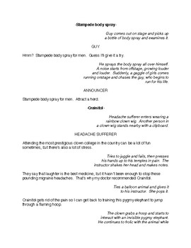 Middle School Drama Script: A Word From Our Sponsors