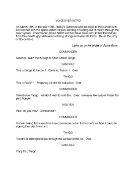 Middle School Drama Script: Space Base