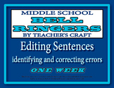 Middle School ELA Bell Ringers - Editing Sentences
