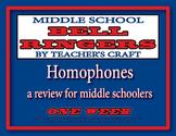 Middle School ELA Bell Ringers - Homophones