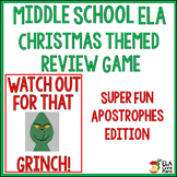 Middle School ELA Christmas Game ~ Apostrophes Edition