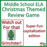 Middle School ELA Christmas Game~ Capitalization Edition