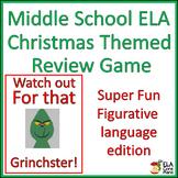 Middle School ELA Christmas Game~ Figurative Language Edition