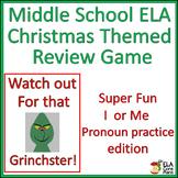 Middle School ELA Christmas Game ~ Pronoun Practice I or M