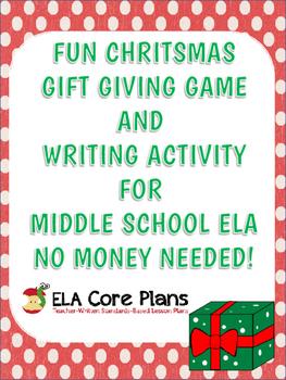 Middle School ELA Christmas Gift Exchange & Writing Activi