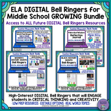 Middle School ELA DIGITAL Bell Ringers Bundle