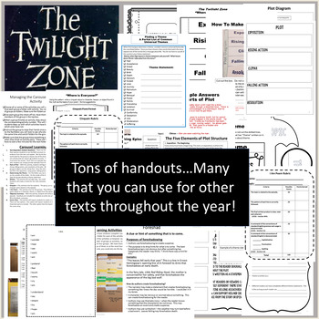 "The Twilight Zone Episode Activities ""Where Is Everyone?"" Middle School ELA"