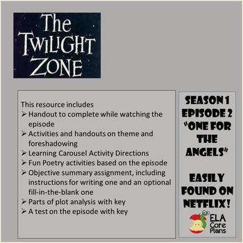 "ELA Halloween Fun! The Twilight Zone Episode Activities ""Where Is Everyone?"""