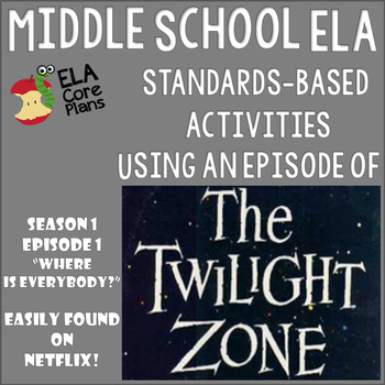 """The Twilight Zone Episode Activities """"Where Is Everyone?"""""""