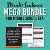 Middle School ELA Mentor Sentence Resource Bundle / Printa