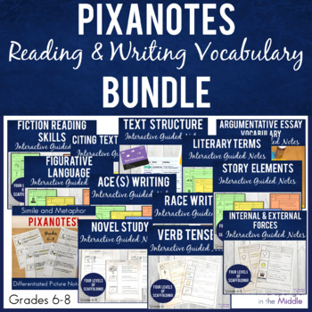 Middle School ELA Pixanotes® MEGA BUNDLE!