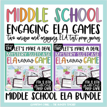 Middle School ELA Review Game for ELA Test Prep 7th 8th ELA Review Game BUNDLE