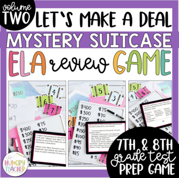 Middle School ELA Review Game Test Prep 7th Grade 8th Grade ELA Review Game 2