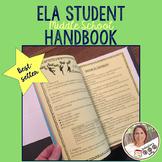 Secondary ELA Student Handbook Bundle Back to School
