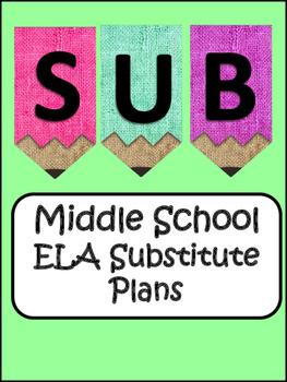 Middle School ELA Substitute Plans