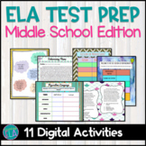 Middle School ELA Test Prep Review Activities