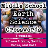 Middle School Earth Science Crosswords Volume 1-Earth, Maps, Rocks, and Soil