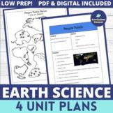 Middle School Earth Science Unit Plans MEGA BUNDLE