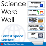 Earth & Space Science Word Wall in English & Spanish