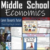 Middle School Economics Bundle: Budgeting, Check Writing, & Career Research
