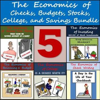 Middle School Economics Bundle: Checks, Budgets, Stocks, C