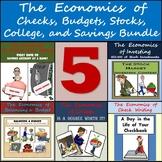 Middle School Economics Bundle: Checks, Budgets, Stocks, College, and Savings!