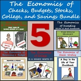 Middle School Economics Bundle: Checks, Budgets, Stocks, College, and Savings!