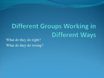 Middle School Effective Collaboration PowerPoint