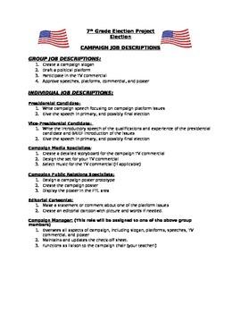 Middle School Election Unit