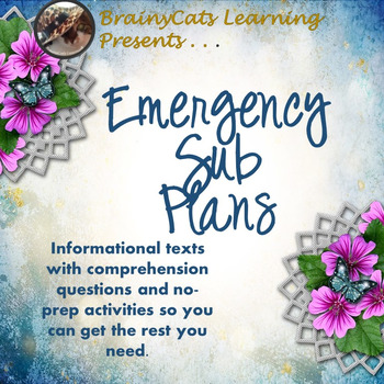 Middle School Emergency Sub Plans:  Informational Texts and No-Prep Activities