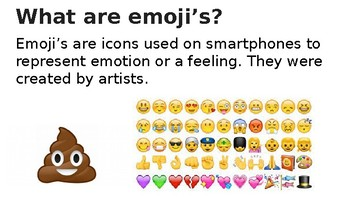 Middle School Emoji Project PowerPoint Presentation  *Editable*