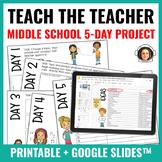 Middle School End of Year Activity: Teach the Teacher! PBL