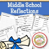 Middle School End of the Year Reflections Writing Project