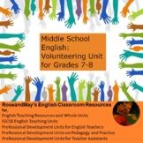Middle School English: Non-fiction Unit - Volunteering