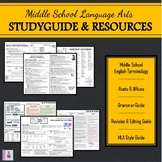 Middle School English Studyguide & Resources