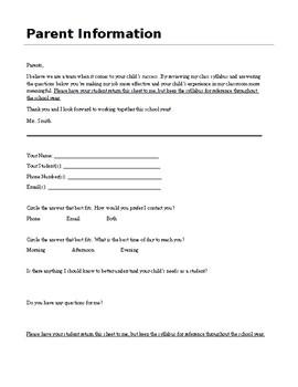 Middle School English Syllabus