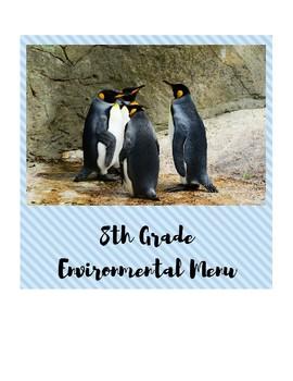 Middle School Environmental Assignment Menu