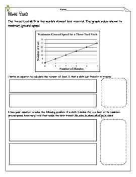 Middle School Equation Task