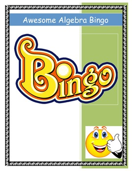 Middle School Equations and Expressions Bingo