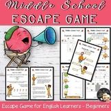 Back to School Escape Game EFL - Level 1