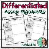 Middle School Essay Graphic Organizer - Editable - Differe